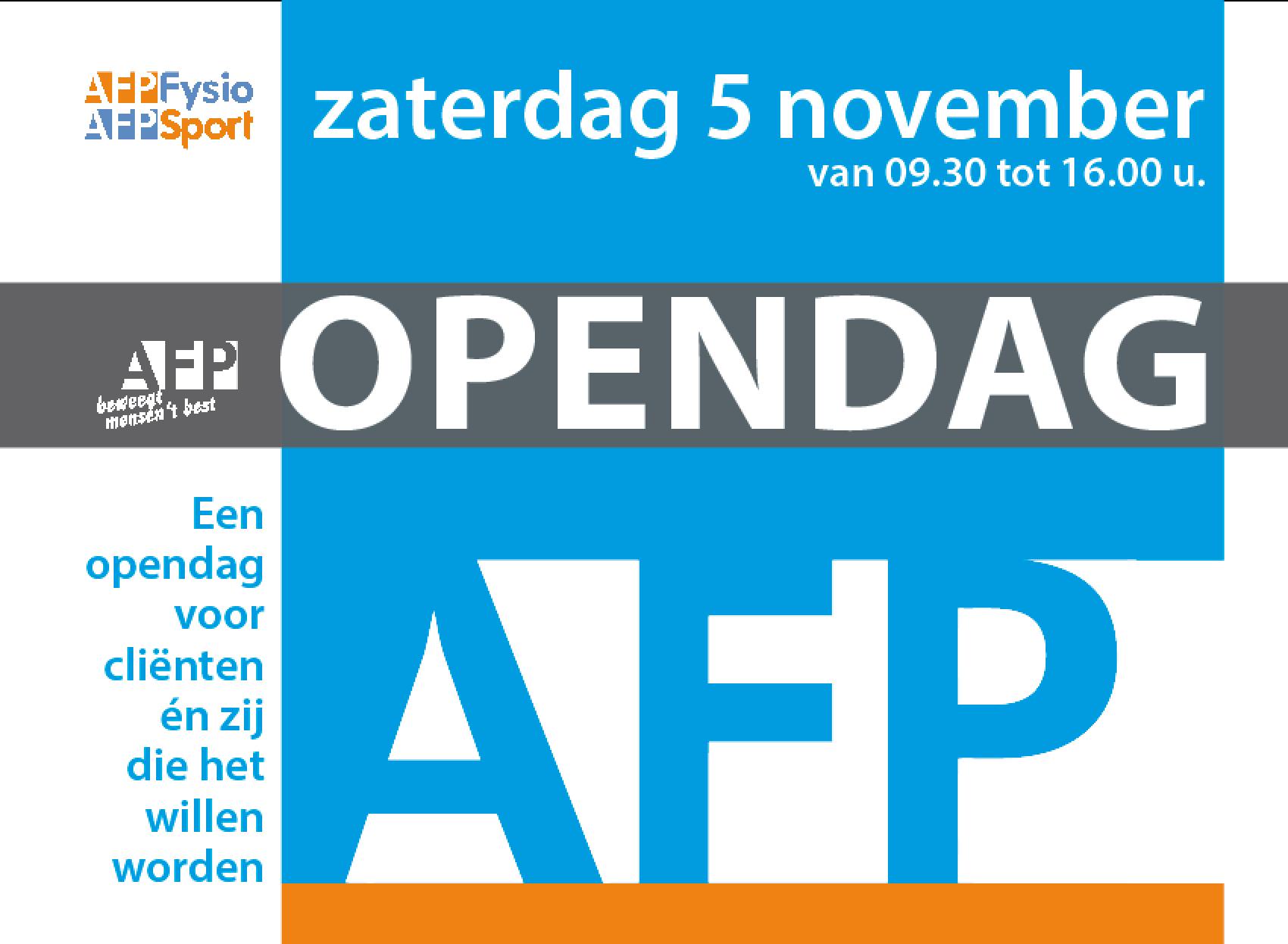 Geslaagde clinics tijdens de AFP opendag.
